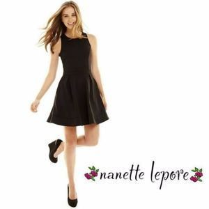 Nanette Lepore L'Amour Open Back Fit Flare Dress